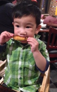 Little LRC liked those buffalo wings!